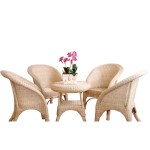 EB-91953 Rattan Table & Chairs
