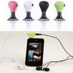Headphone Splitter for iPhone4 with Suction Holder